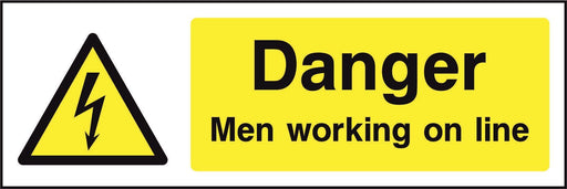 Danger Men working on line