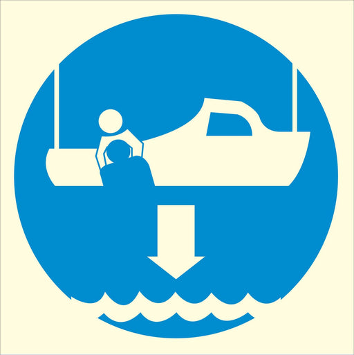 Lower rescue boat - Symbol