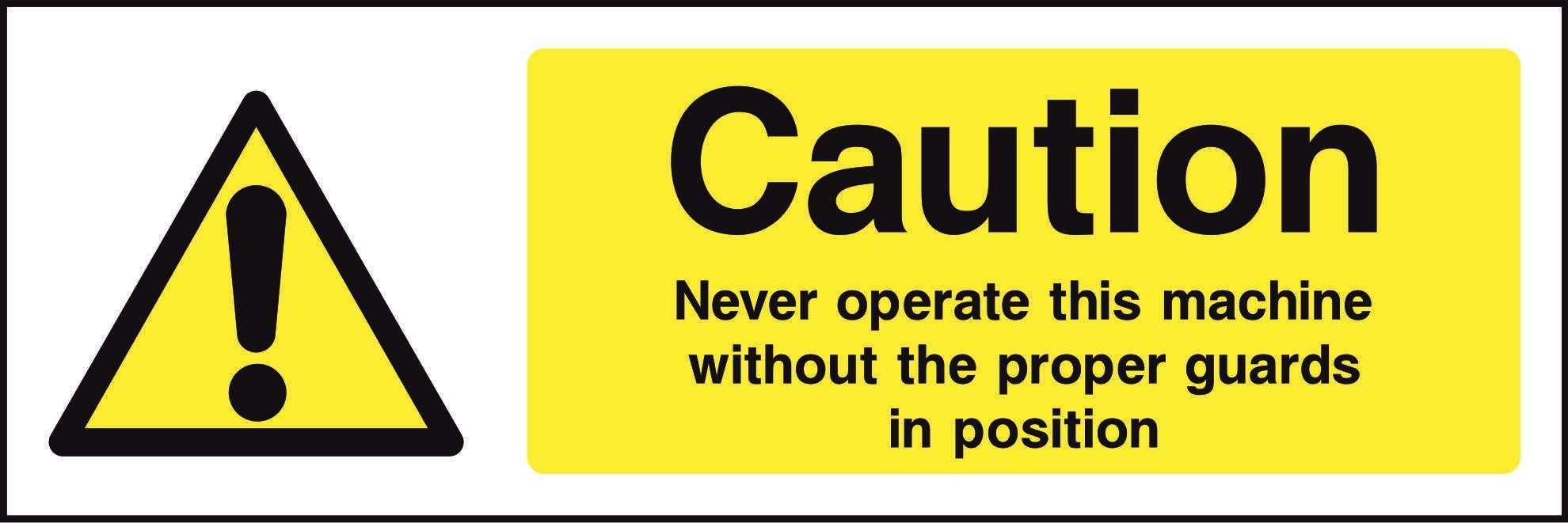 Caution Never operate this machine…..
