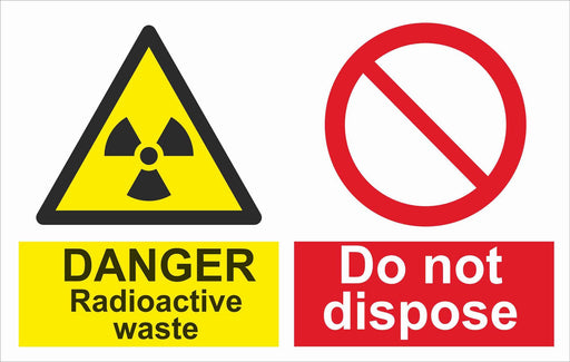 DANGER Radioactive waste