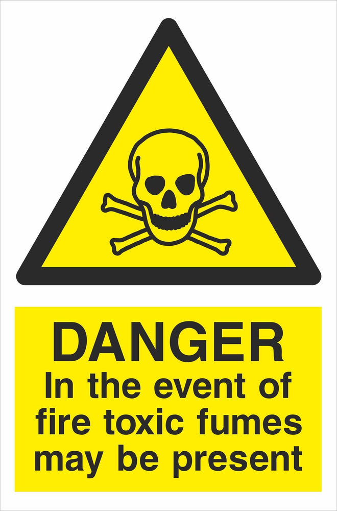 DANGER In the event of fire toxic fumes may be present