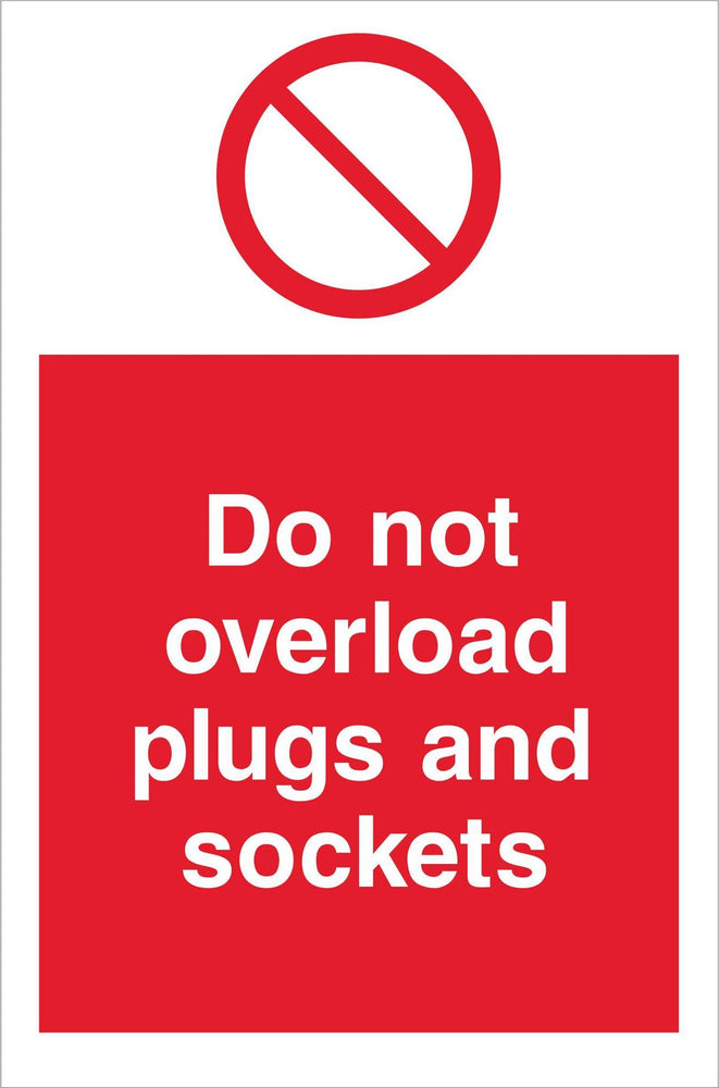 Do not overload plugs and sockets