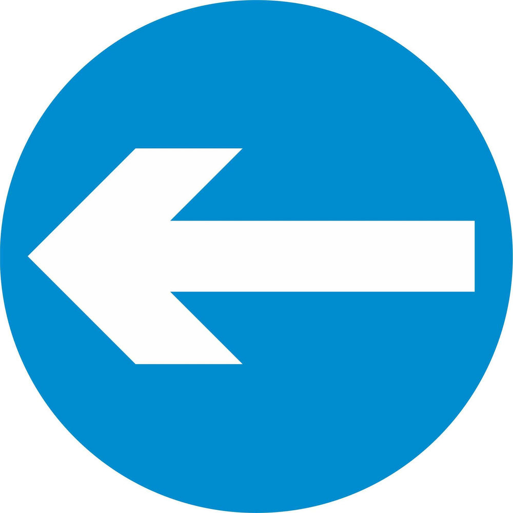 Turn Left - Road Traffic Sign