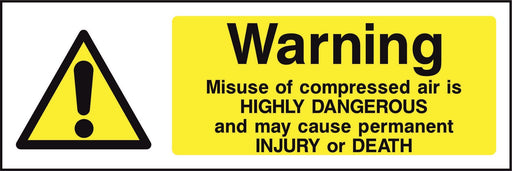 Warning Misuse of compressed air is HIGHLY DANGEROUS….