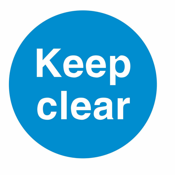 KEEP CLEAR - SELF ADHESIVE STICKER