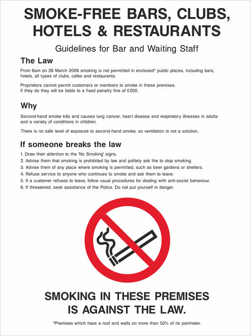 SMOKE-FREE BARS, CLUBS, HOTELS & RESTAURANTS