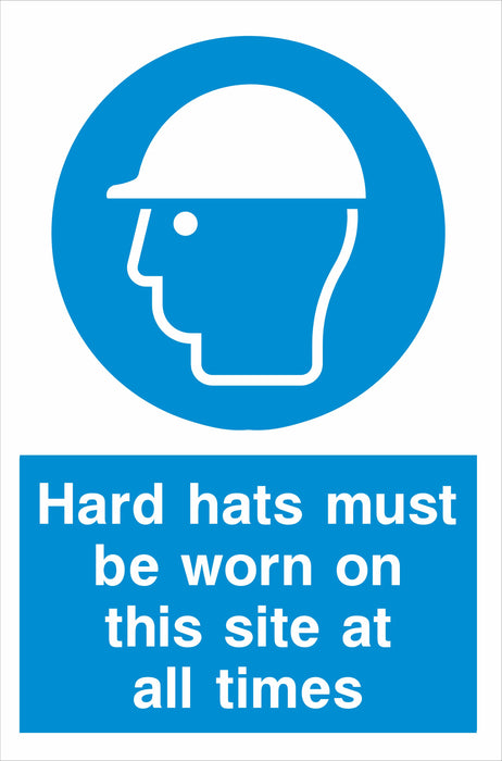 Hard hats must be worn….