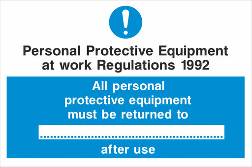 Personal Protective Equipment at work Regulations 1992
