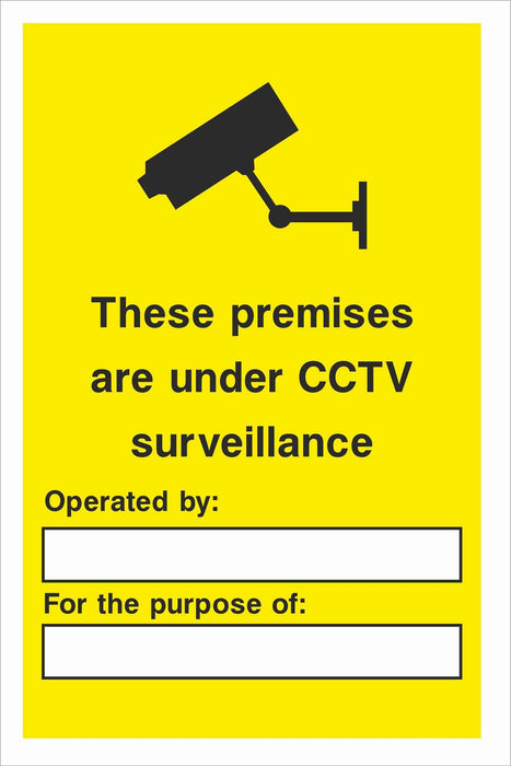 Security - CCTV  Sign - These premises are under CCTV surveillance