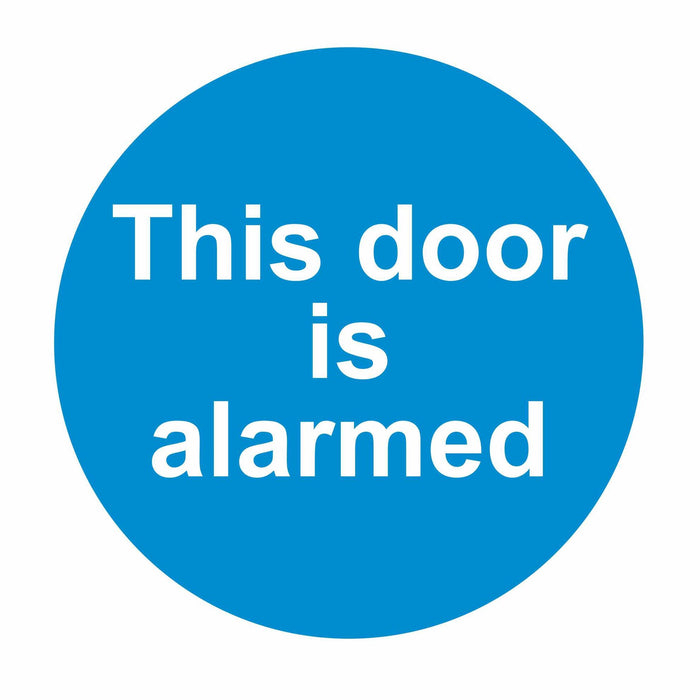 THIS DOOR IS ALARMED - SELF ADHESIVE STICKER