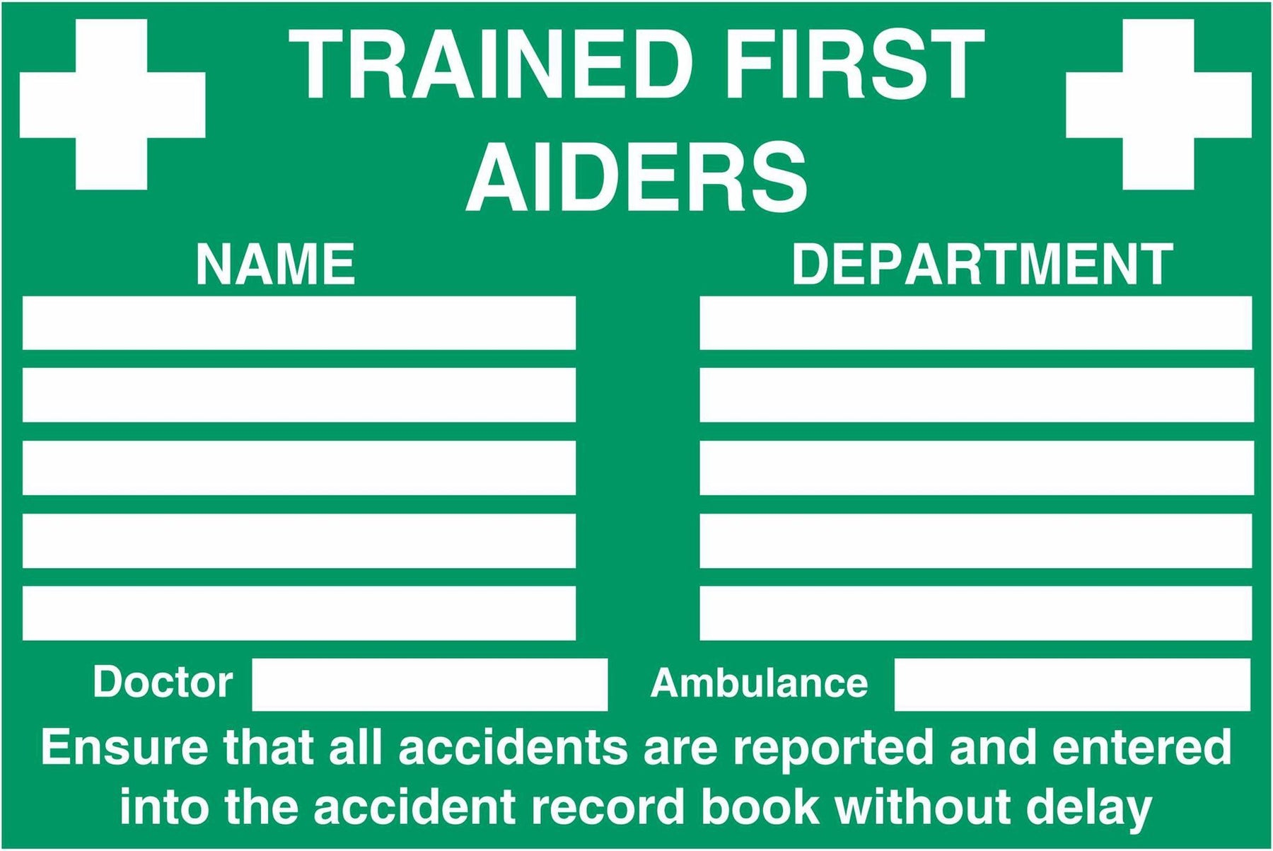 TRAINED FIRST AIDERS