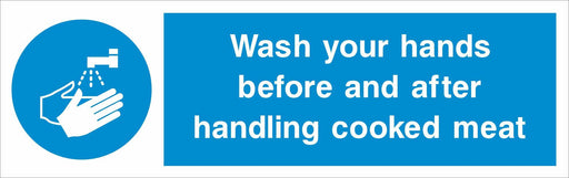 Wash your hands before and after handling cooked meat