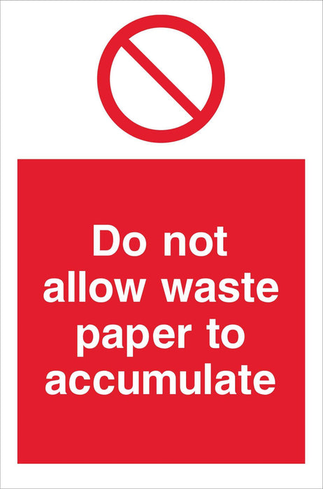 Do not allow waste paper…