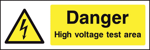 Danger High voltage test area