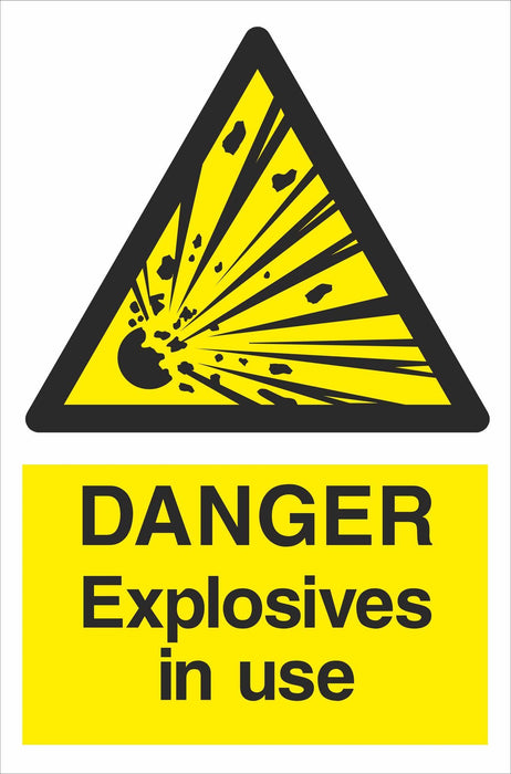 DANGER Explosives in use