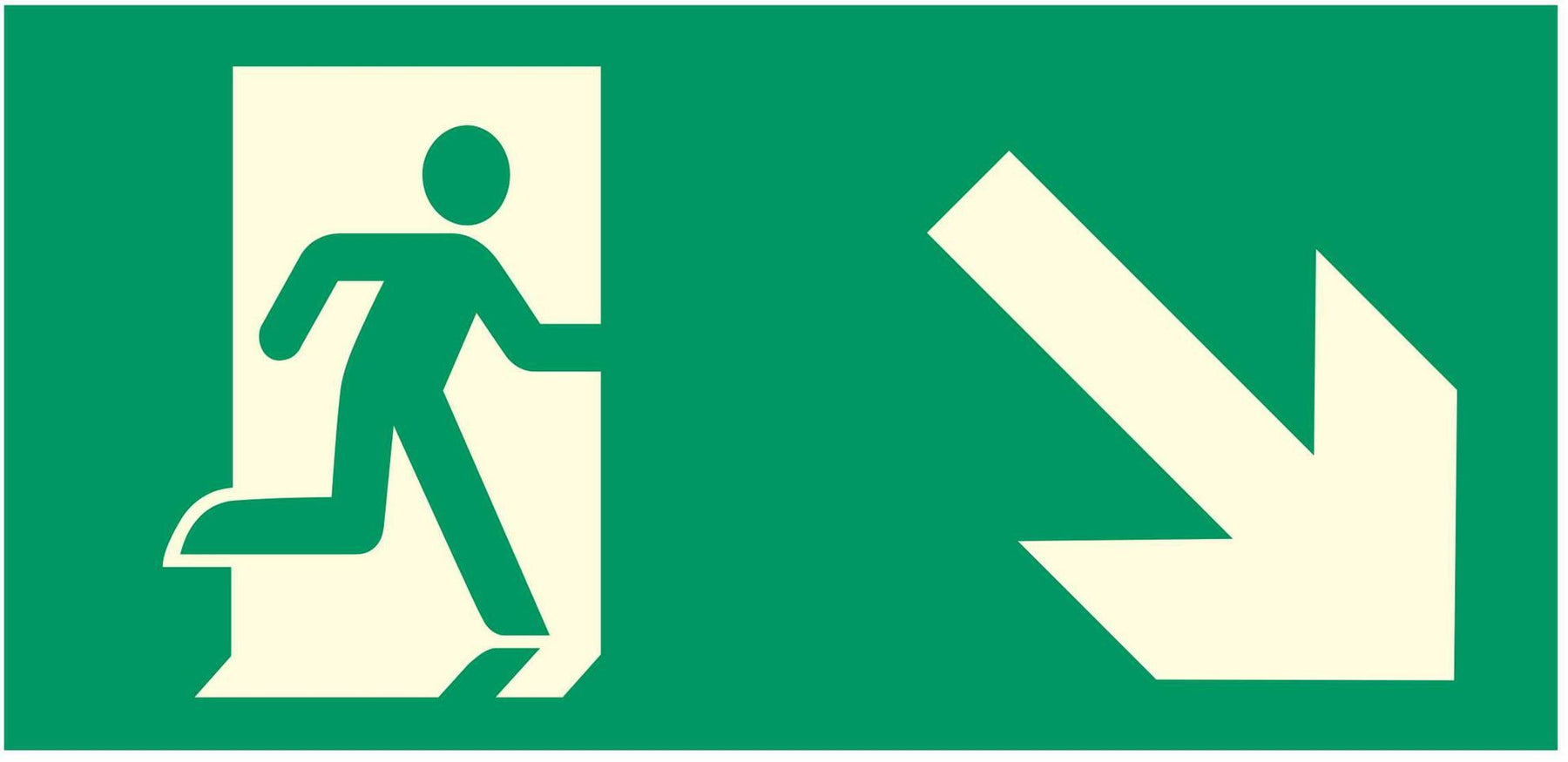 Emergency Escape - Running Man Right - Down Right Arrow