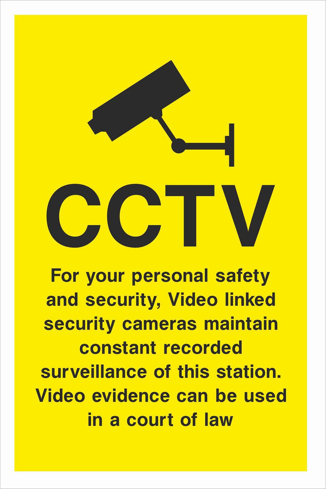 Security - CCTV  Sign - For your personal safety and security