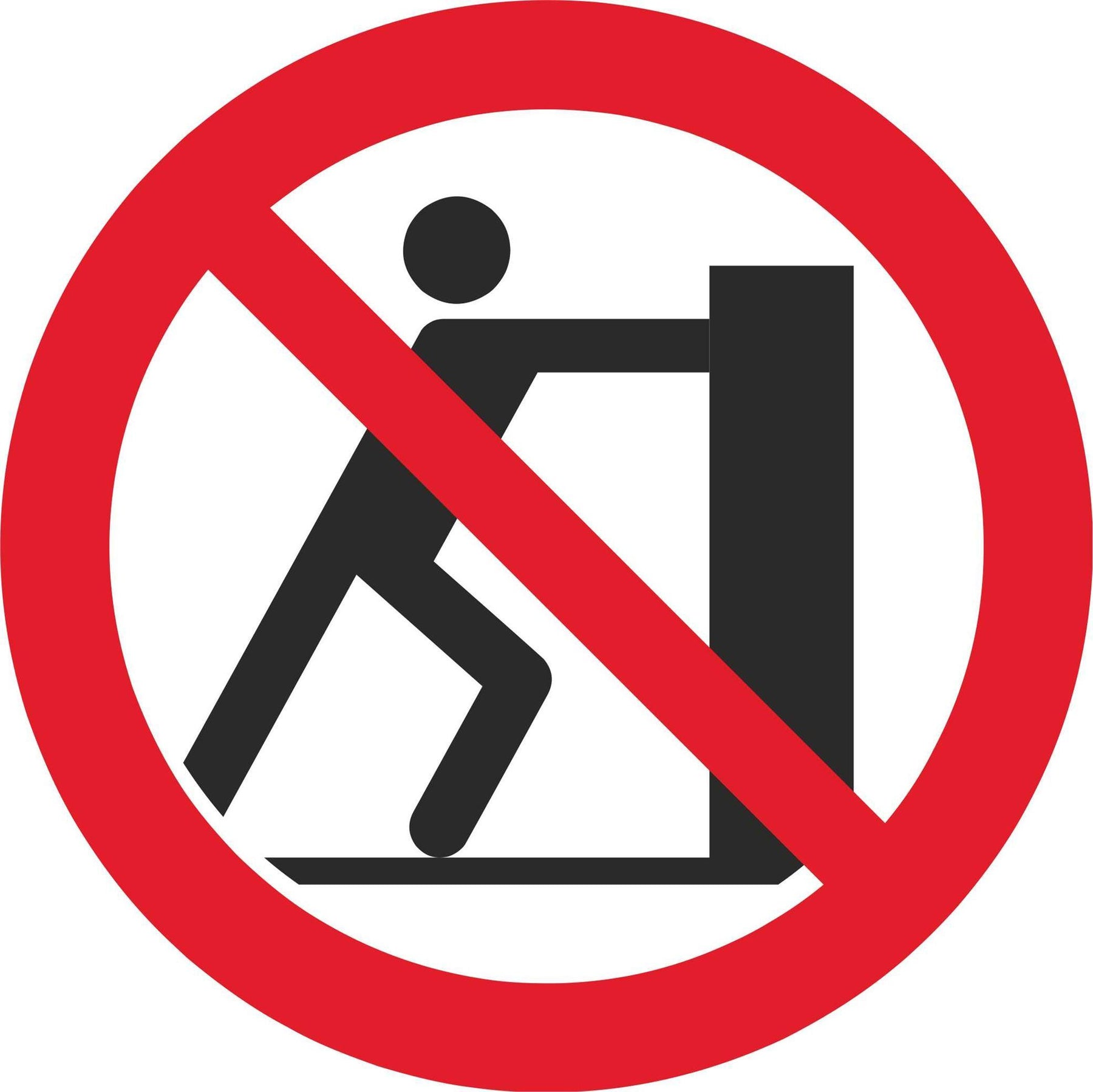 No pushing - Symbol sticker sheet