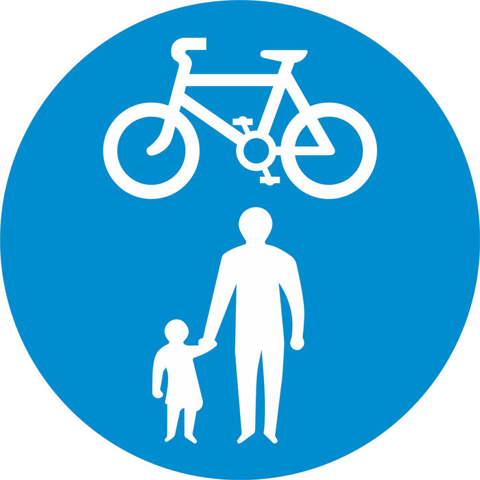 Pedal Cycles and Pedestrians only - Road Traffic Sign