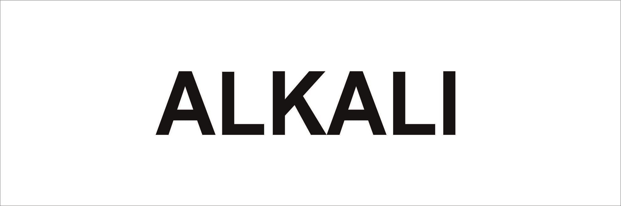 Pipeline Marking Label - ALKALI