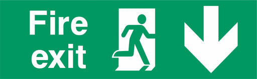Fire Exit - Running Man Right - Down Arrow