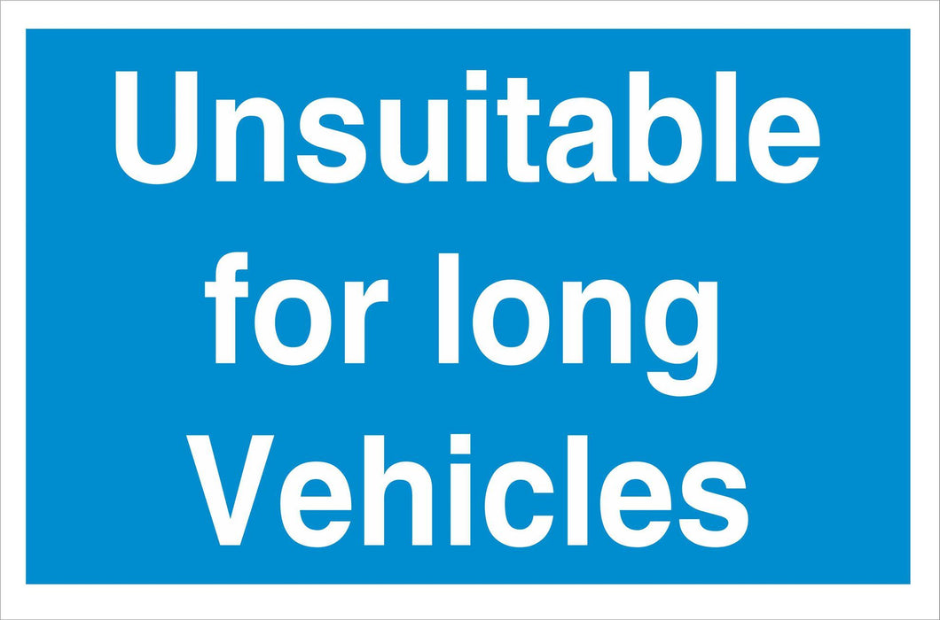 Unsuitable for long vehicles