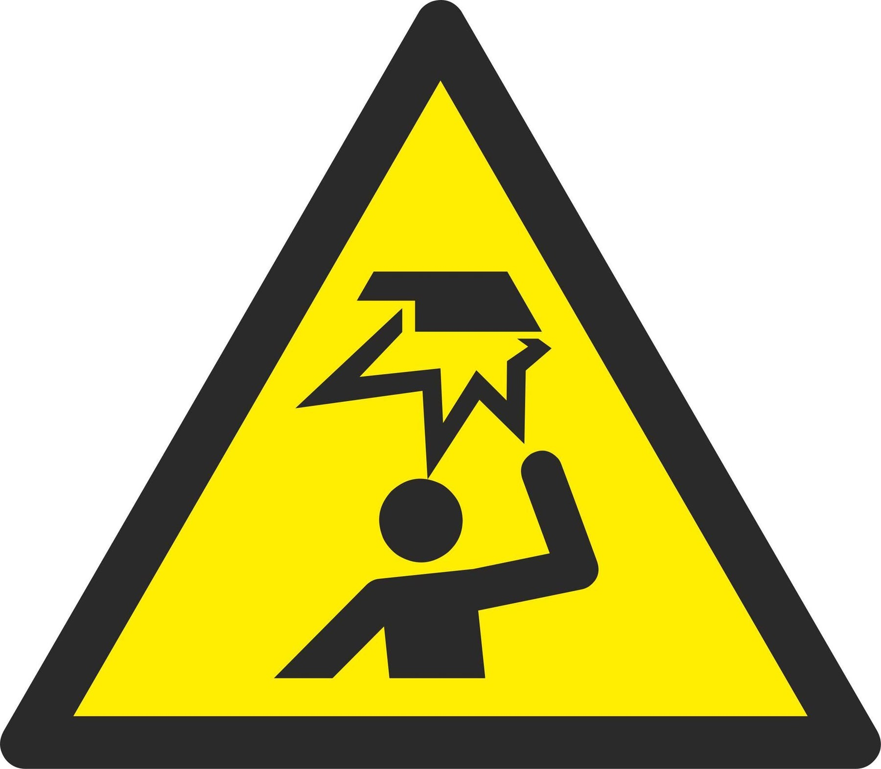 Warning Overhead obstacle - Symbol sticker sheet