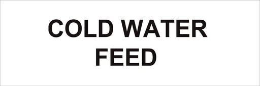 Pipeline Marking Label - COLD WATER FEED