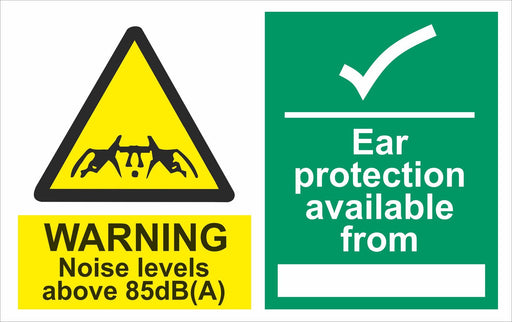 WARNING Noise levels above 85dB(A)