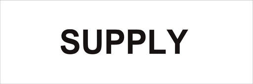 Pipeline Marking Label - SUPPLY