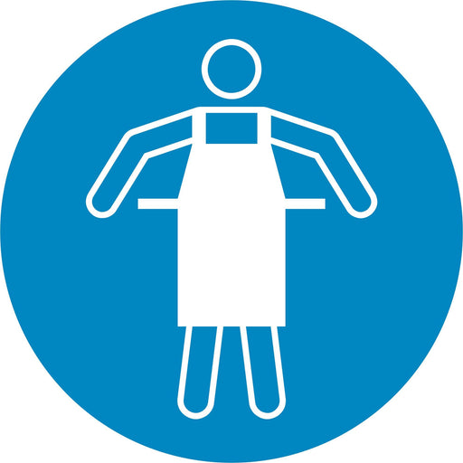 Use protective apron - Symbol sticker sheet supplied as per image shown