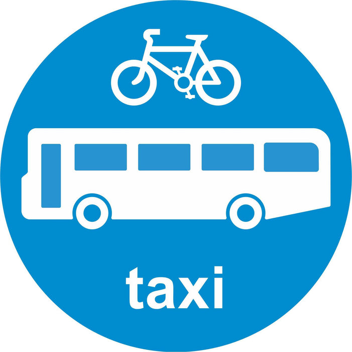 Buses Cycles and Taxis only - Road Traffic Sign