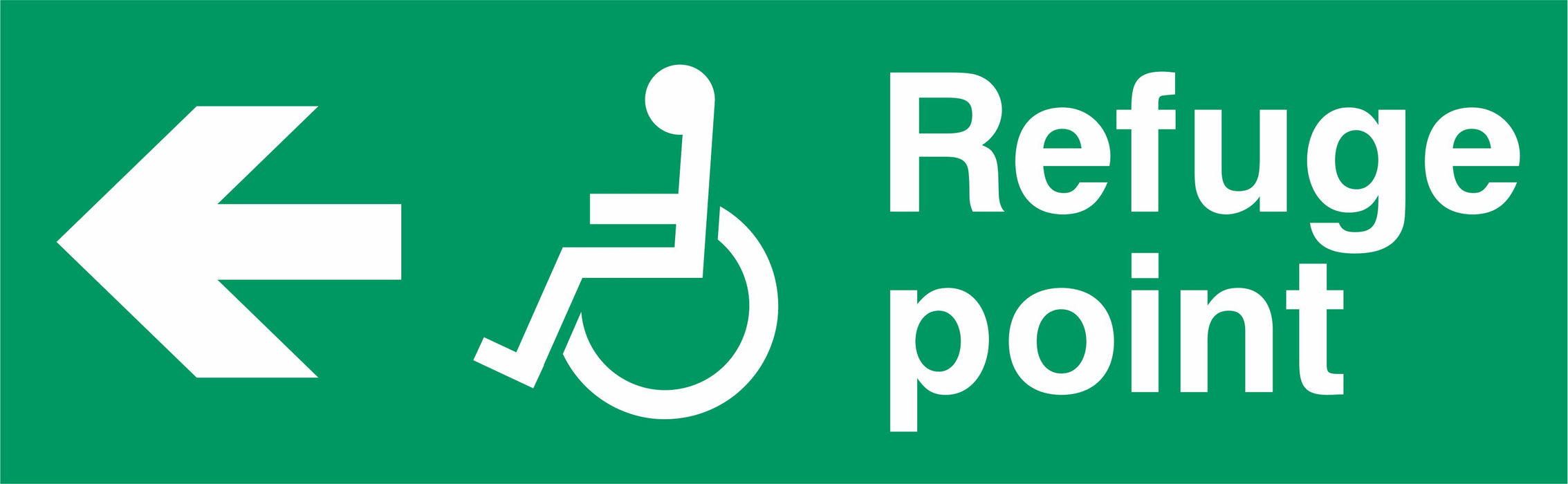 Refuge point - Disabled symbol - Left Arrow