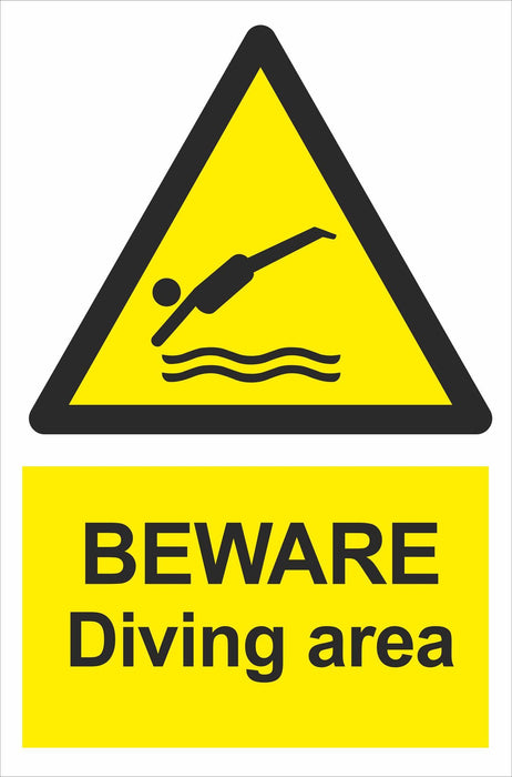 BEWARE Diving area