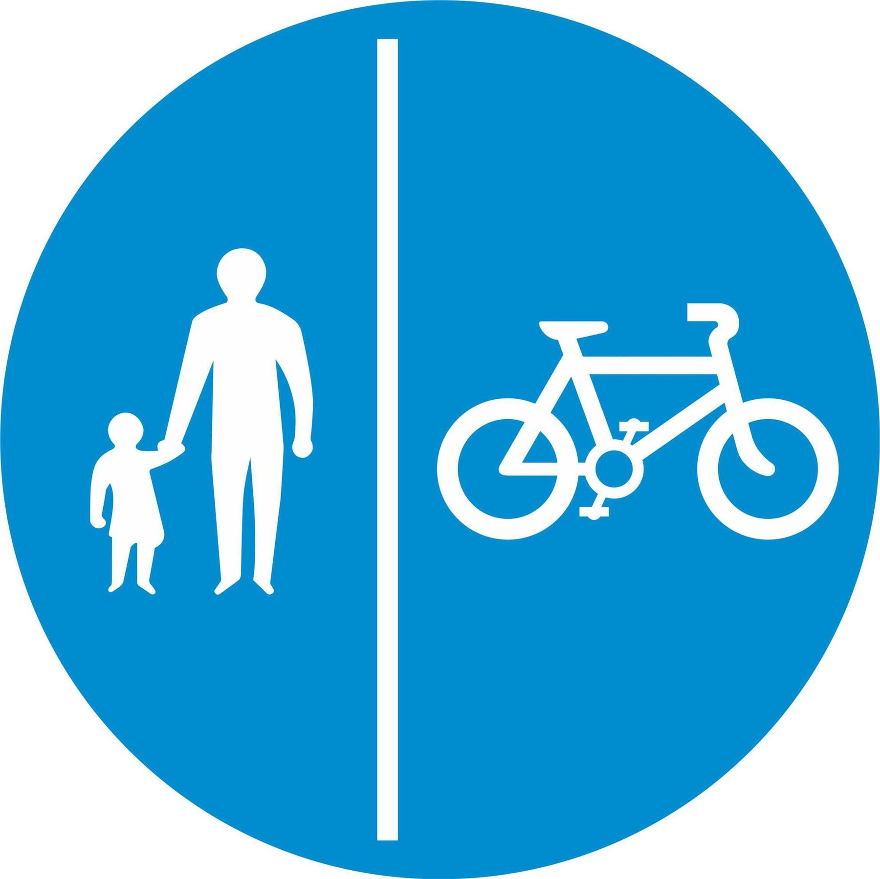 Segregated pedal cycle and pedestrian route - Road Traffic Sign