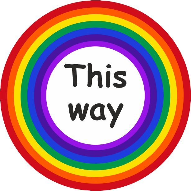 PACK OF 10 SCHOOL FLOOR STICKERS RAINBOW THIS WAY   - COVID 19 SOCIAL DISTANCING