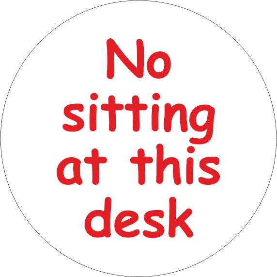 PACK OF 10 SCHOOL FLOOR STICKERS NO SITTING AT THIS DESK - COVID 19 SOCIAL DISTANCING