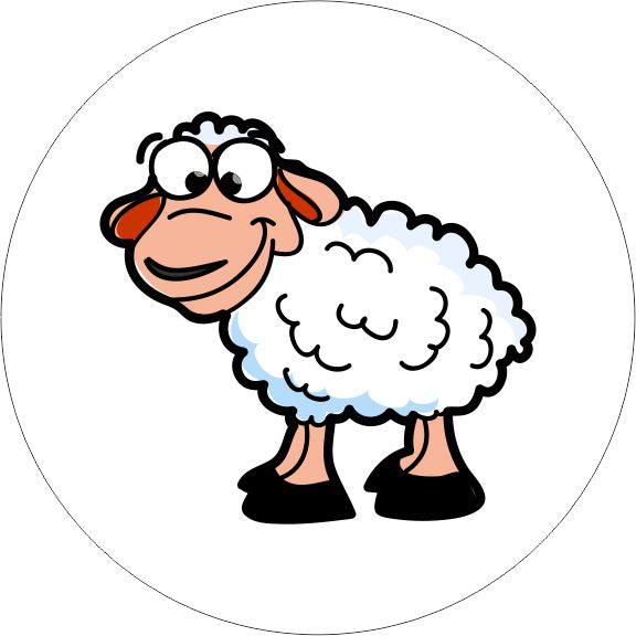 PACK OF 10 SCHOOL FLOOR STICKERS SHEEP - COVID 19 SOCIAL DISTANCING