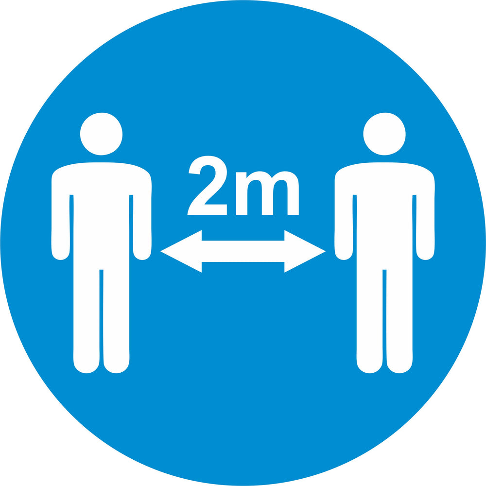 2m APART - COVID 19 SOCIAL DISTANCING SIGNS - PACK OF 10