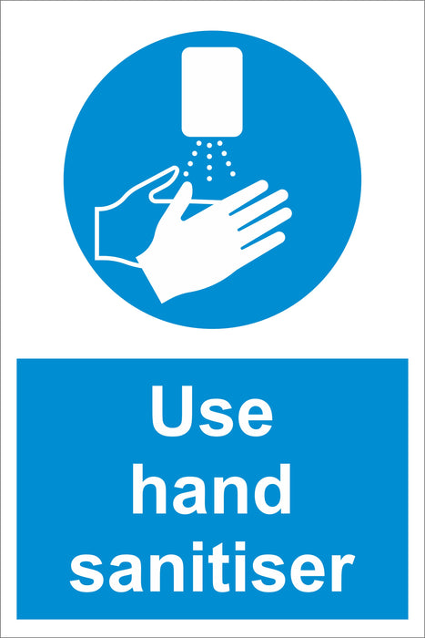 USE HAND SANITISER - COVID 19 SOCIAL DISTANCING SIGNS