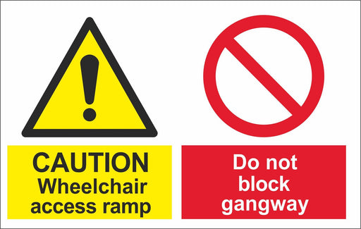 CAUTION Wheelchair access ramp
