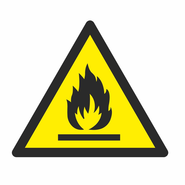 Warning Flammable material - Symbol sticker sheet
