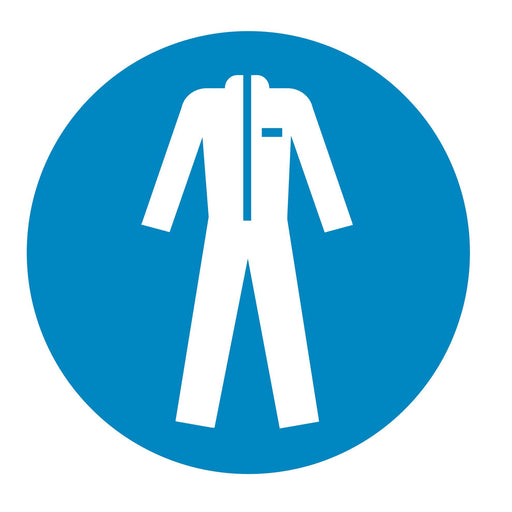 Wear protective clothing - Symbol sticker sheet supplied as per image shown
