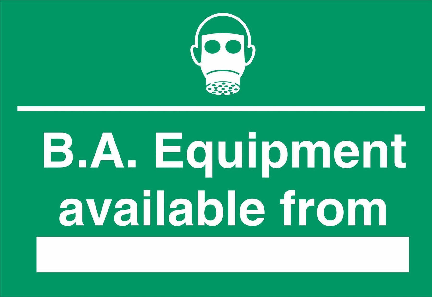 B.A. Equipment available from