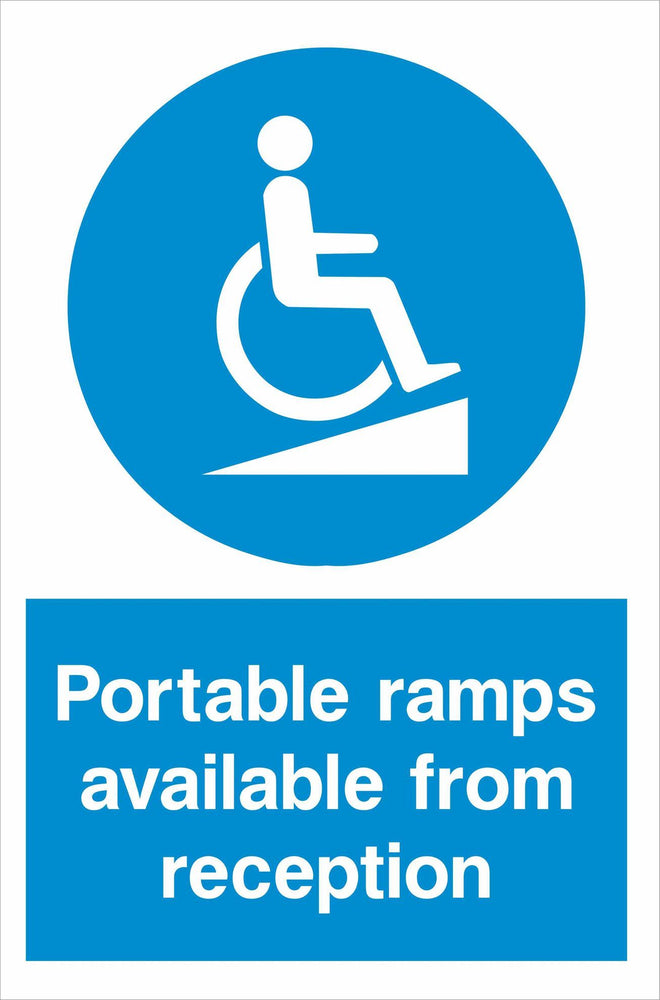 Portable ramps available from reception