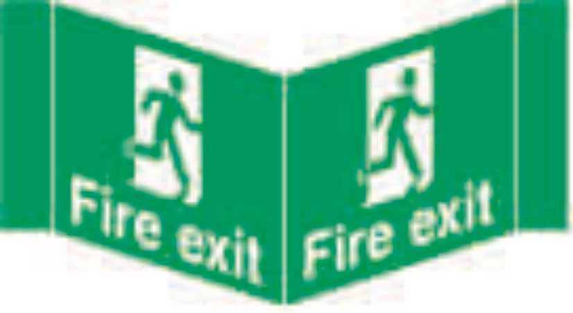 Fire exit Projecting Sign