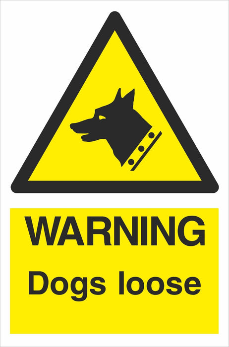 WARNING Dogs loose