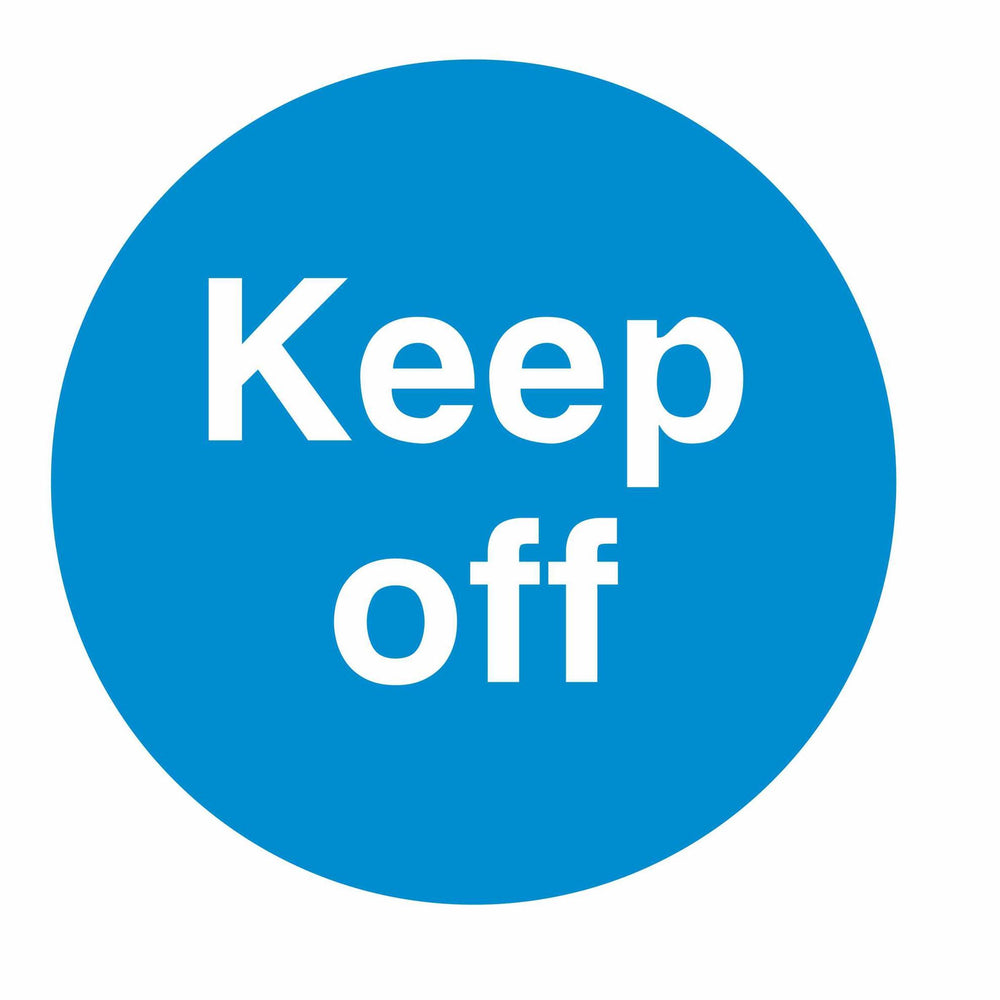 KEEP OFF - SELF ADHESIVE STICKER