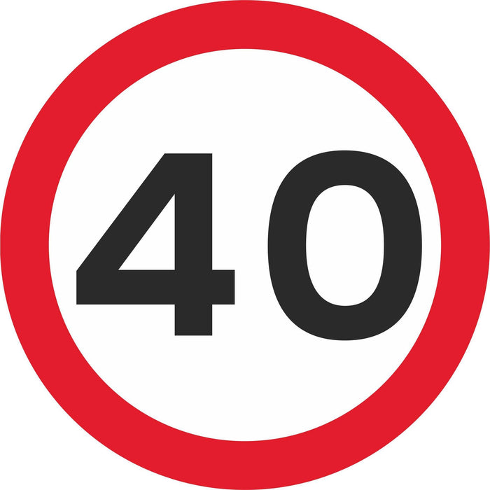 40 mph Maximum Speed - Road Traffic Sign