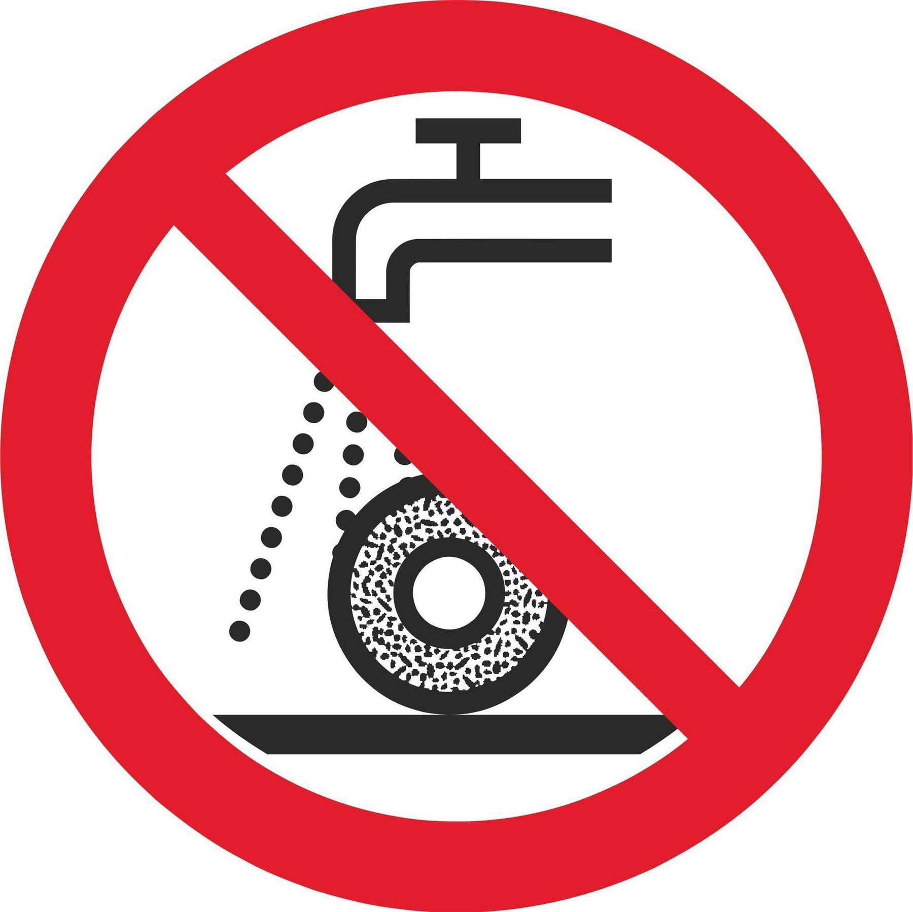 Do not use for wet grinding - Symbol sticker sheet